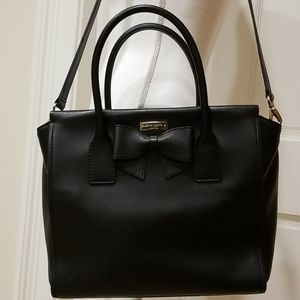 Kate Spade Black Bow Leather Shoulder Bag
